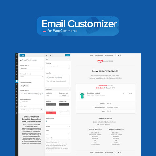 email customizer wocommerce